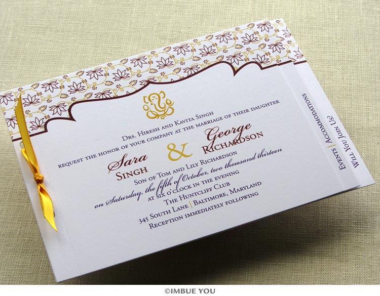 handmade Indian wedding invitations