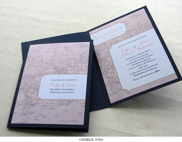 handmade vintage wedding invitations