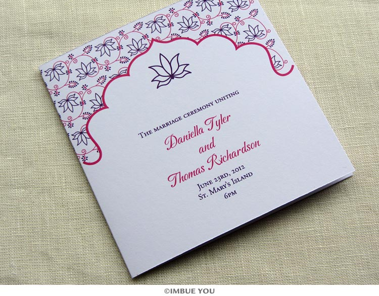 vintage wedding reception stationery