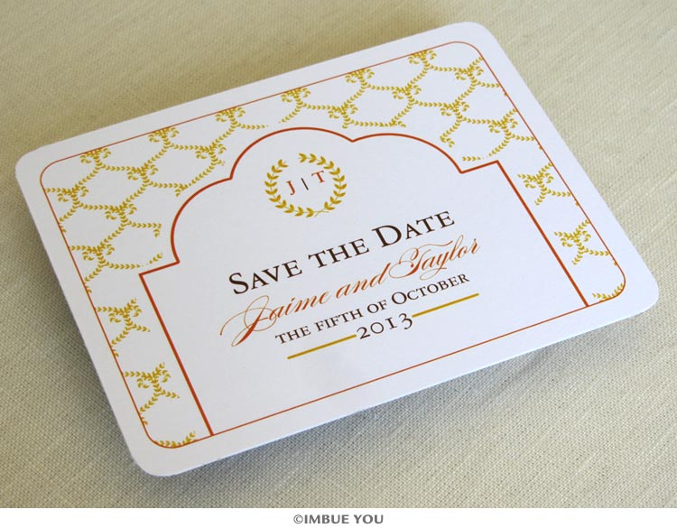 rustic fall wedding save the dates