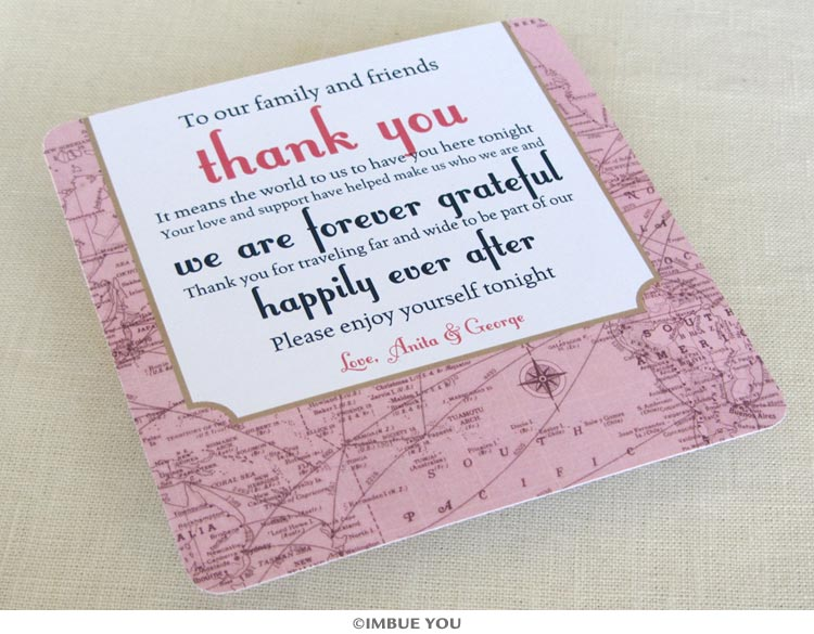 dinner plate thank you cards