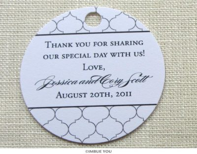 elegant indian favor tag or gift tag by Imbue You