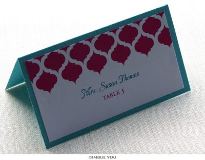 Indian Moroccan place card or escort card by Imbue You