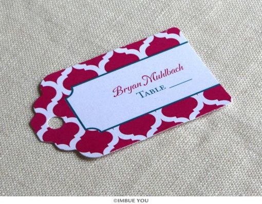 Indian Moroccan place card tag by Imbue You