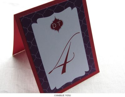 Indian Monogram Table Number by Imbue You