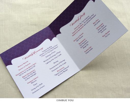indian monogram wedding program inside by Imbue You