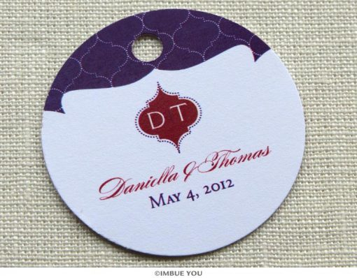 indian monogram favor tag or gift tag by Imbue You