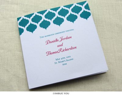 indian vintage wedding program square by Imbue You