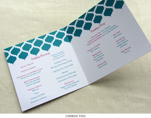 indian vintage wedding program inside square by Imbue You