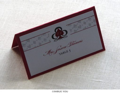 las vegas place card or escort card by Imbue You