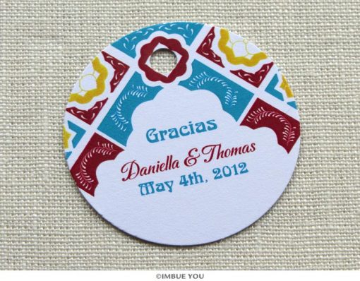 mexican tile favor tag or gift tag by Imbue You