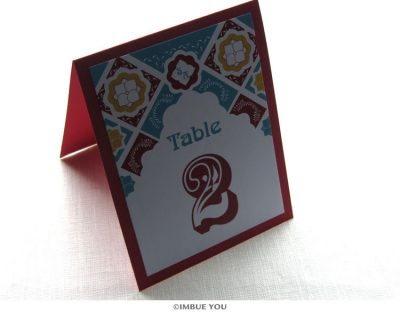 Mexican Tile Table Number by Imbue You