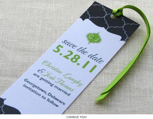 indian save the date bookmark monogram by Imbue You
