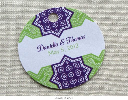 moroccan favor tag or gift tag by Imbue You