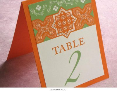 Moroccan Table Number by Imbue You