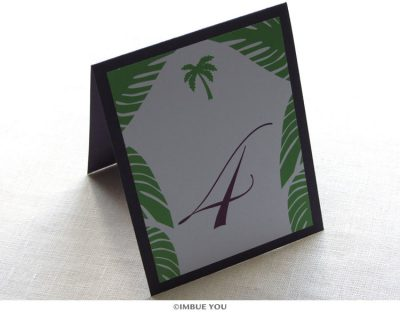 Palm Tree Table Number by Imbue You