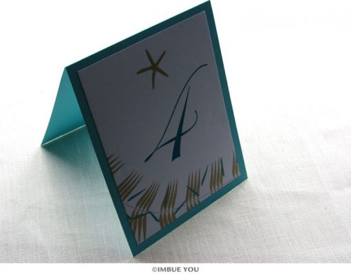 Starfish Beach Table Number by Imbue You