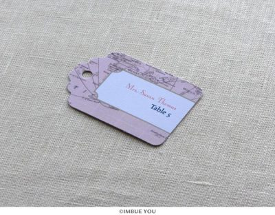 Vintage Map Place Card Tag by Imbue You