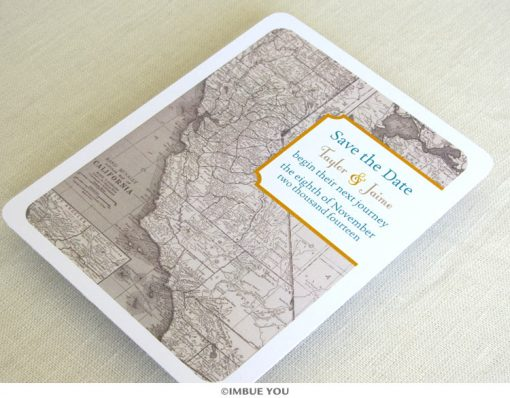 california map save the date postcard front by Imbue You
