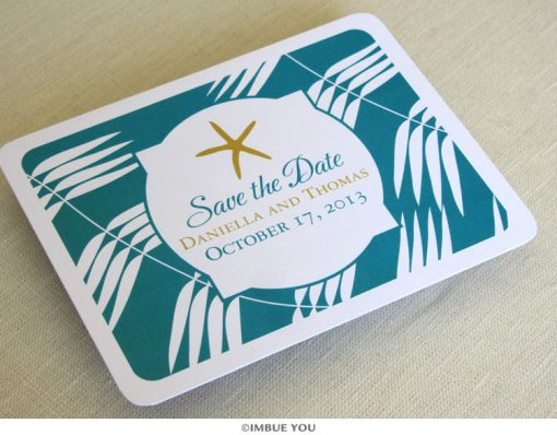 Starfish save the date front by Imbue You