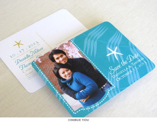 Starfish photo save the date by Imbue You