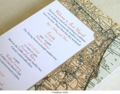 Florida vintage map itinerary card by Imbue You