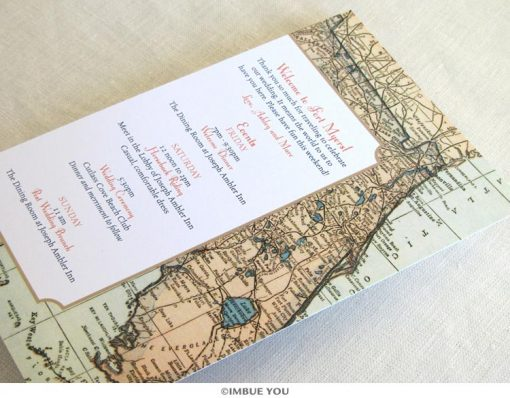 Florida vintage map destination itinerary card by Imbue You
