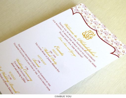 Ganesh Indian lotus itinerary card by Imbue You
