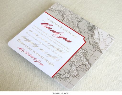 Italy Florence Tuscany reception thank you card by Imbue You