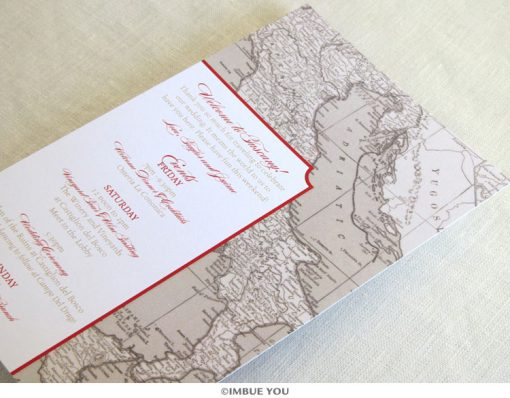 Italy Florence Tuscany destination itinerary card by Imbue You