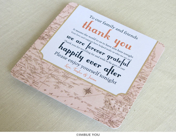 Thank Your Wedding Guests with Vintage Travel Style