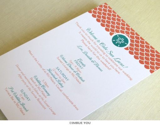 Sand dollar beach itinerary card by Imbue You