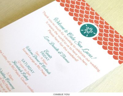Sand dollar beach destination itinerary card by Imbue You