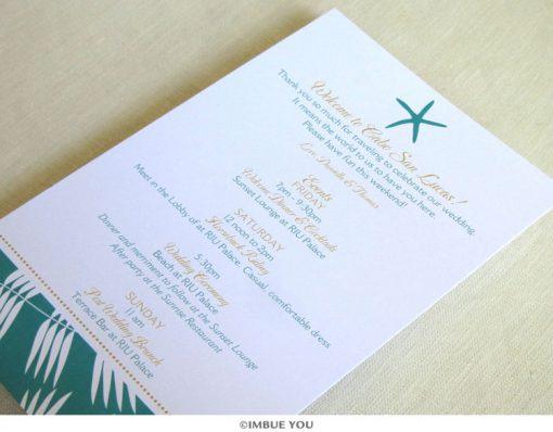 Starfish Beach Itinerary Card by Imbue You