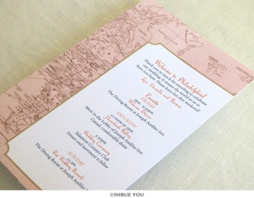 Vintage Map Itinerary Card by Imbue You