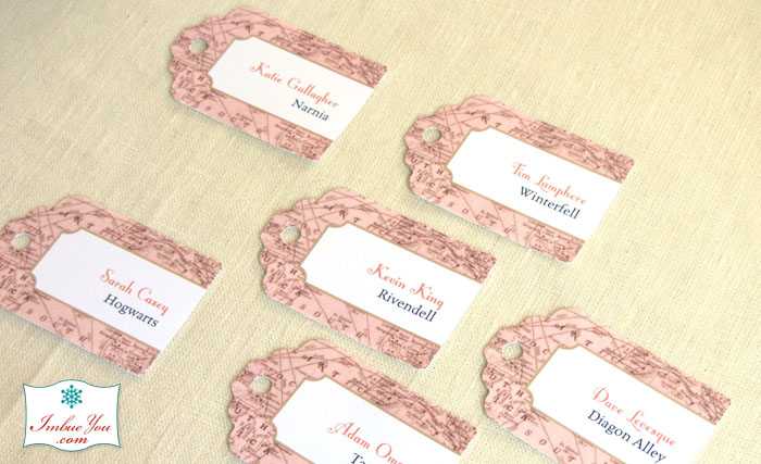 geek wedding game of thrones place tags by Imbue You
