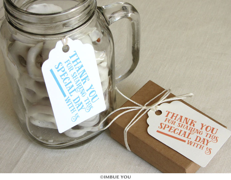 Fun, Fresh and Fast: New Modern Thank You Favor Tag