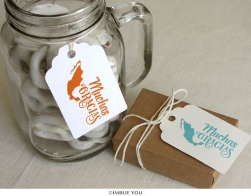 muchas gracias mexican wedding favor tag by Imbue You