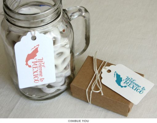 welcome to mexico mexican wedding bag tag by Imbue You