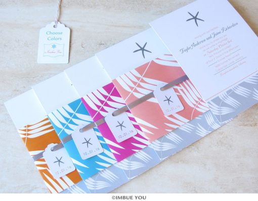 Starfish Beach Wedding Invitation colors by Imbue You