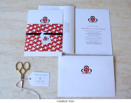 las vegas wedding invitation belly band set by Imbue You