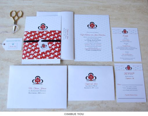 las vegas wedding invitation casino belly band by Imbue You