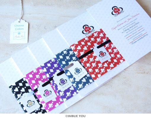 las vegas wedding invitation colors by Imbue You