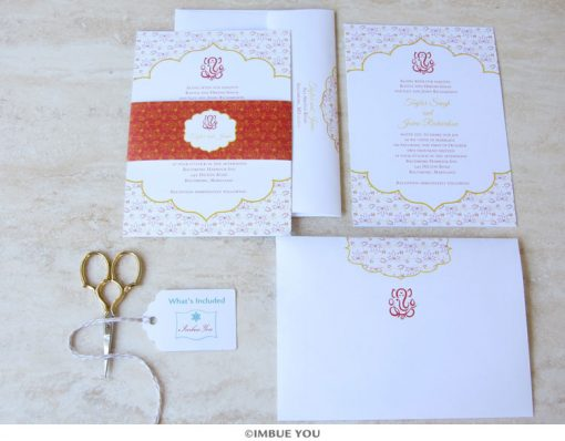 Indian Ganesh wedding invitation set by Imbue You